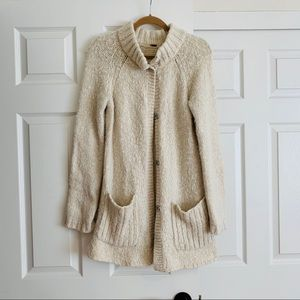 Free People ivory cardigan sweater.